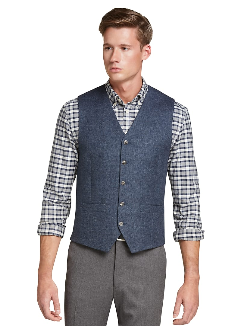 1905 Collection Tailored Fit Birdseye Vest CLEARANCE