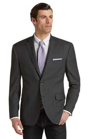 Men's SportCoats, Executive Collection Traditional Fit Mini Houndstooth Sportcoat - Jos A Bank