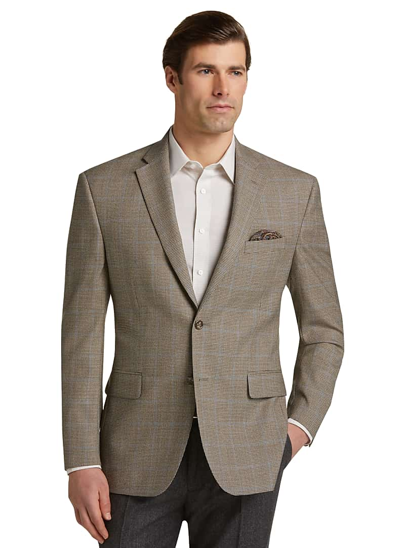 Executive Collection Traditional Fit Houndstooth Windowpane Sportcoat
