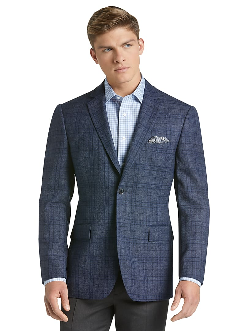 Traveler Collection Tailored Fit Plaid Sportcoat