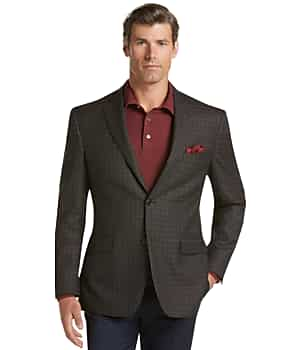 Traveler Collection Traditional Fit Tattersall Sportcoat