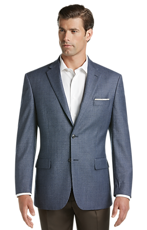 Men's FLYOUT_CATEGORY, Executive Collection Traditional Fit Mini Check Sportcoat - Big & Tall - Jos A Bank
