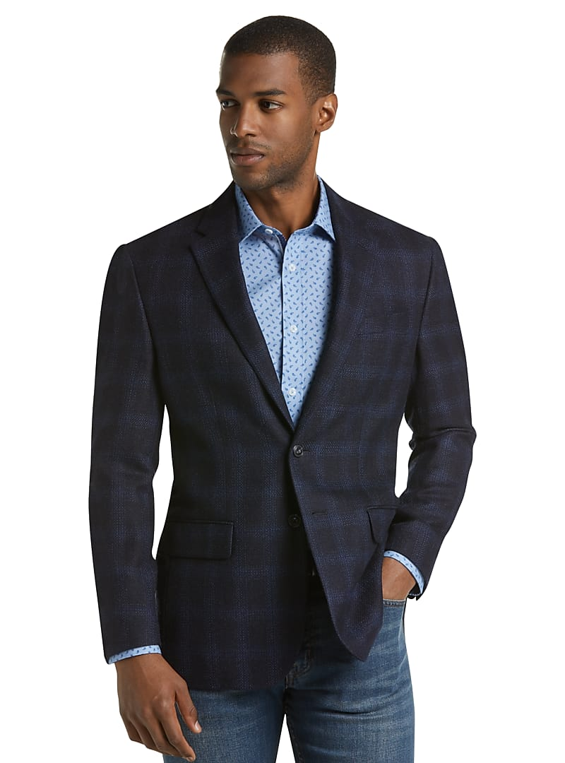 1905 Collection Tailored Fit Windowpane Sportcoat with brrr°? comfort