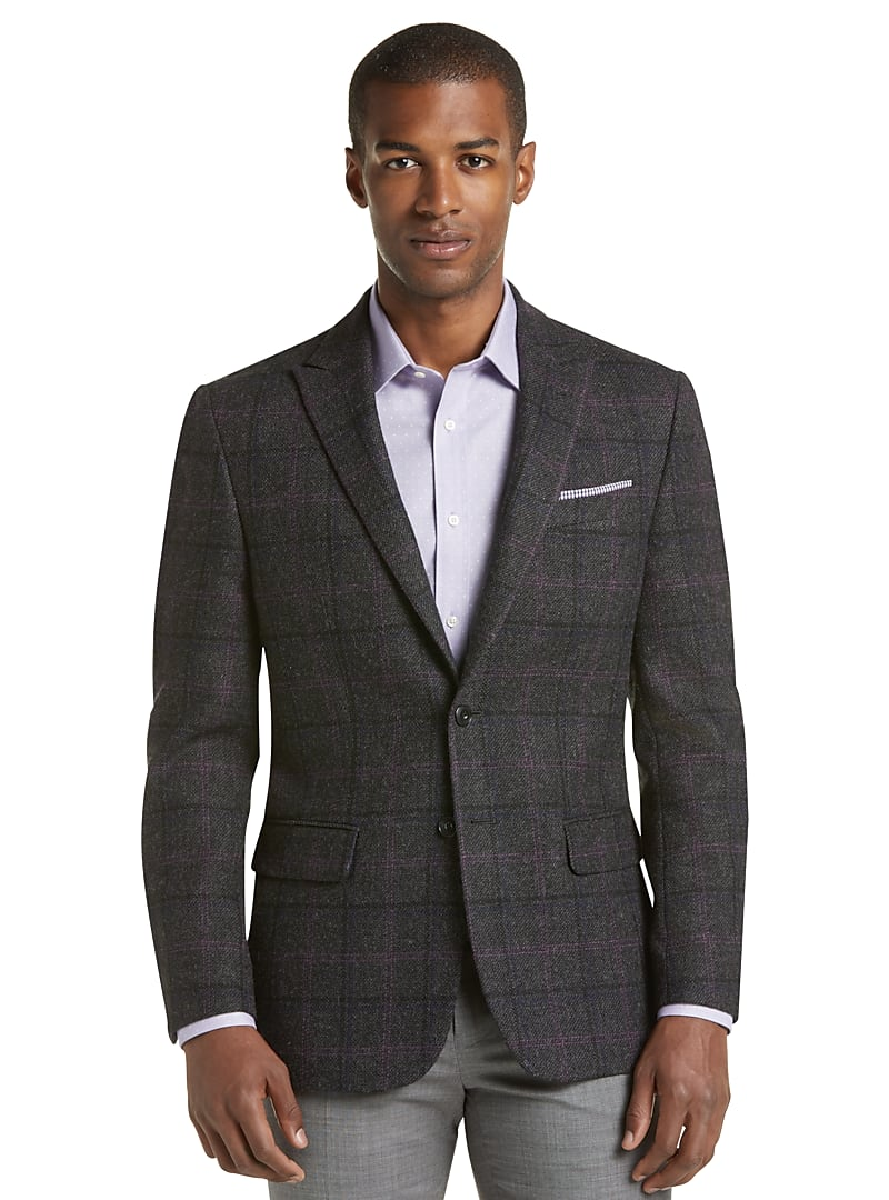 1905 Collection Tailored Fit Windowpane Sportcoat with brrr°? comfort CLEARANCE