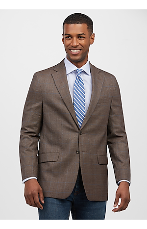 Men's SportCoats, 1905 Collection Tailored Fit Windowpane Sportcoat - Jos A Bank