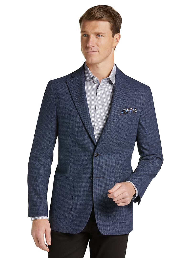 1905 Collection Tailored Fit Mini Check Sportcoat with brrr°? comfort
