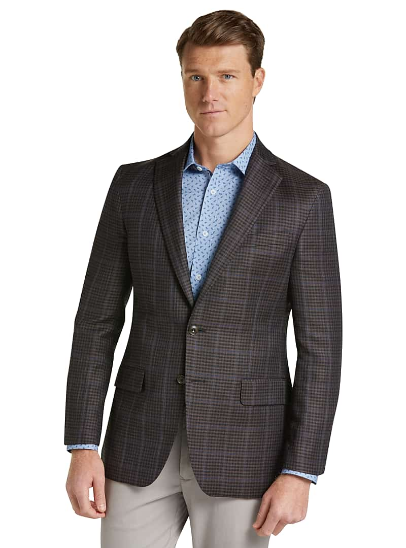 1905 Collection Slim Fit Windowpane Check Sportcoat with brrr°? comfort