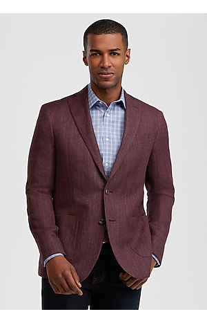 Men's SportCoats, 1905 Collection Slim Fit Textured Sportcoat with brrr°? comfort - Jos A Bank