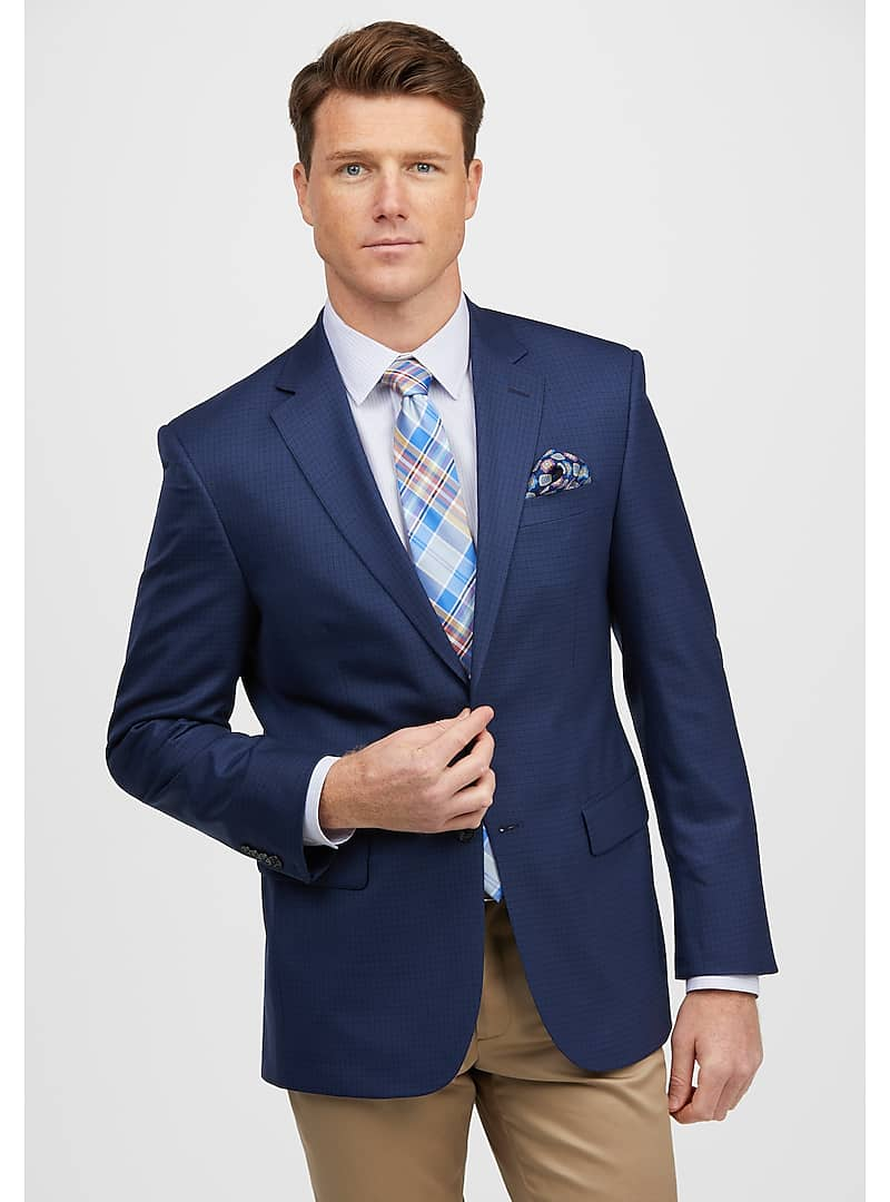 Traveler Collection Tailored Fit Small Check Sportcoat