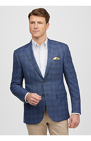 Traveler Collection Tailored Fit Textured Plaid Sportcoat (Was $179, Now $159)