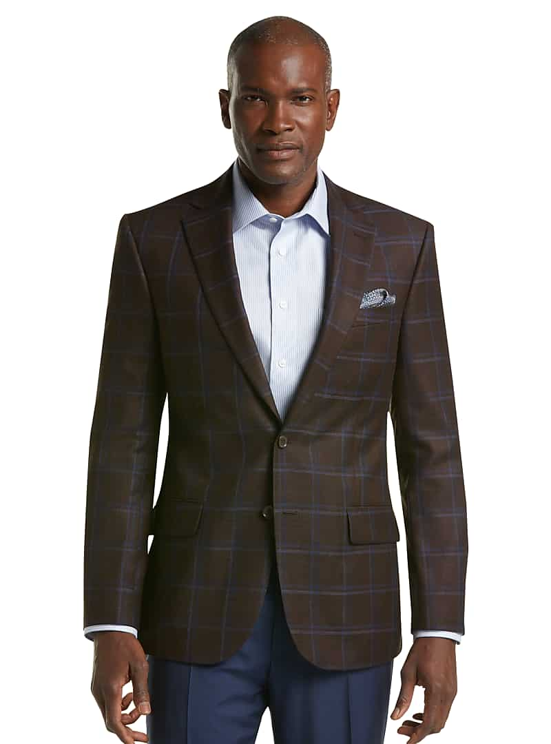 Reserve Collection Tailored Fit Windowpane Sportcoat