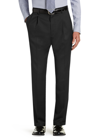 Men's Pants, Executive Collection Traditional Fit Pleated Front Dress Pants - Jos A Bank
