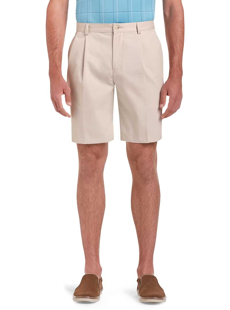 Traveler Collection Traditional Fit Pleated Front Twill Shorts
