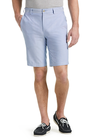 Men's Pants, 1905 Collection Tailored Fit Oxford Shorts - Jos A Bank