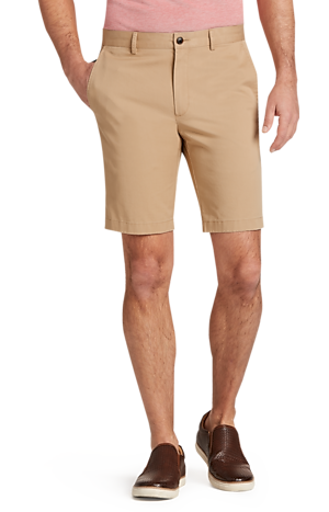 Men's Sale, 1905 Collection Tailored Fit Flat Front Twill Shorts - Big & Tall - Jos A Bank