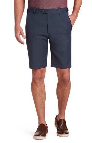 Men's FLYOUT_CATEGORY, Traveler Collection Tailored Fit Flat Front Shorts - Big & Tall - Jos A Bank