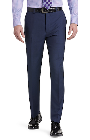 Men's FLYOUT_CATEGORY, Reserve Collection Tailored Fit Flat Front Dress Pants - Big & Tall - Jos A Bank