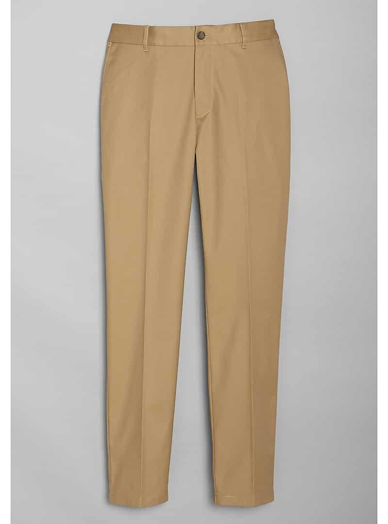Travel Tech Slim Fit Flat Front Casual Pants - Big & Tall