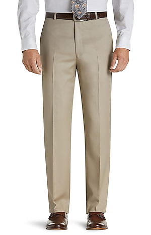 Men's Sale, Executive Collection Tailored Fit Flat Front Dress Pants - Jos A Bank