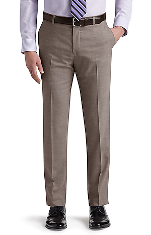 Men's Featured, 1905 Collection Tailored Fit Flat Front Dress Pants with brrr°? comfort - Jos A Bank
