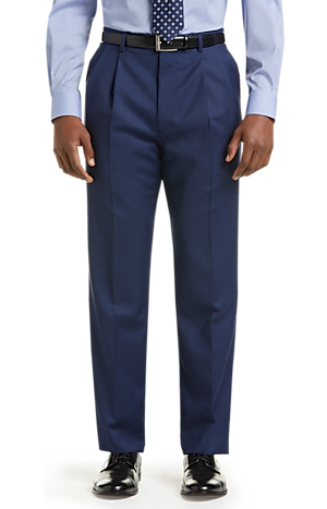 Men's Sale, Executive Collection Traditional Fit Pleated Dress Pants - Jos A Bank
