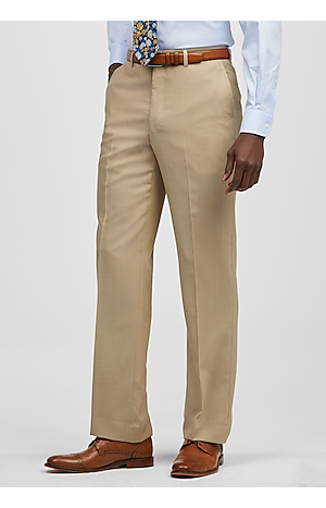 Men's Featured, Reserve Collection Tailored Fit Flat Front Dress Pants - Jos A Bank
