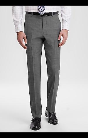 Men's Featured, Travel Tech Slim Fit Flat Front Tic Weave Dress Pant - Jos A Bank