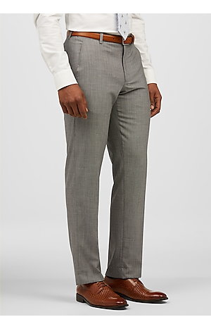 Men's Featured, 1905 Collection Slim Fit Flat Front Micro Check Sorona? Dress Pants - Jos A Bank