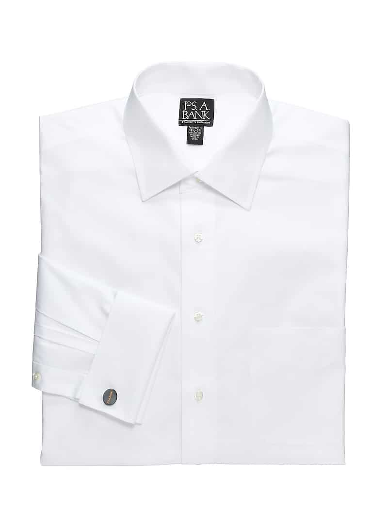 Traveler Collection Slim Fit Spread Collar French Cuff Dress Shirt