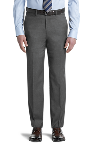 Men's Pants, Signature Collection Tailored Fit Flat Front Dress Pants - Jos A Bank