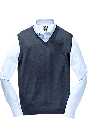 Men's FLYOUT_CATEGORY, Traveler Collection Washable Merino Wool Sweater Vest - Big & Tall - Jos A Bank