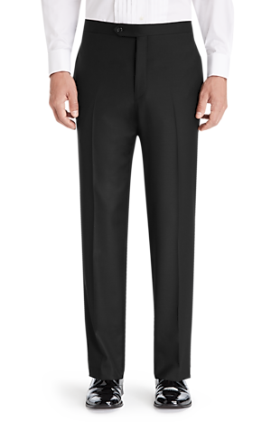 Men's Special Categories, 1905 Collection Tailored Fit Flat Front Tuxedo Separate Pants - Jos A Bank