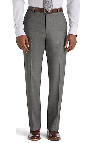 Men's FLYOUT_COLLECTION, Reserve Collection Tailored Fit Flat Front Suit Separate Pants - Big & Tall - Jos A Bank