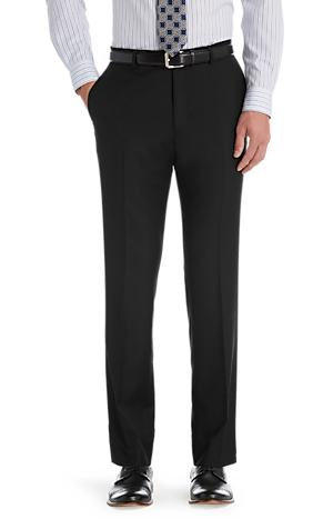 Traveler Collection Tailored Fit Flat Front Suit Separate Pants - Big & Tall