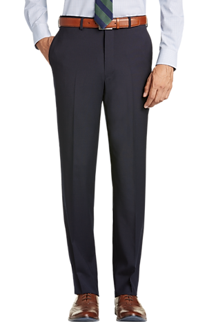 Men's FLYOUT_COLLECTION, 1905 Collection Tailored Fit Flat Front Textured Suit Separate Pants - Big & Tall - Jos A Bank