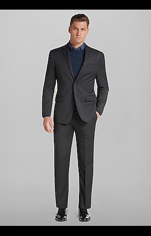 Men's Suits, Travel Tech Slim Fit Tic Solid Suit Separate Jacket - Jos A Bank