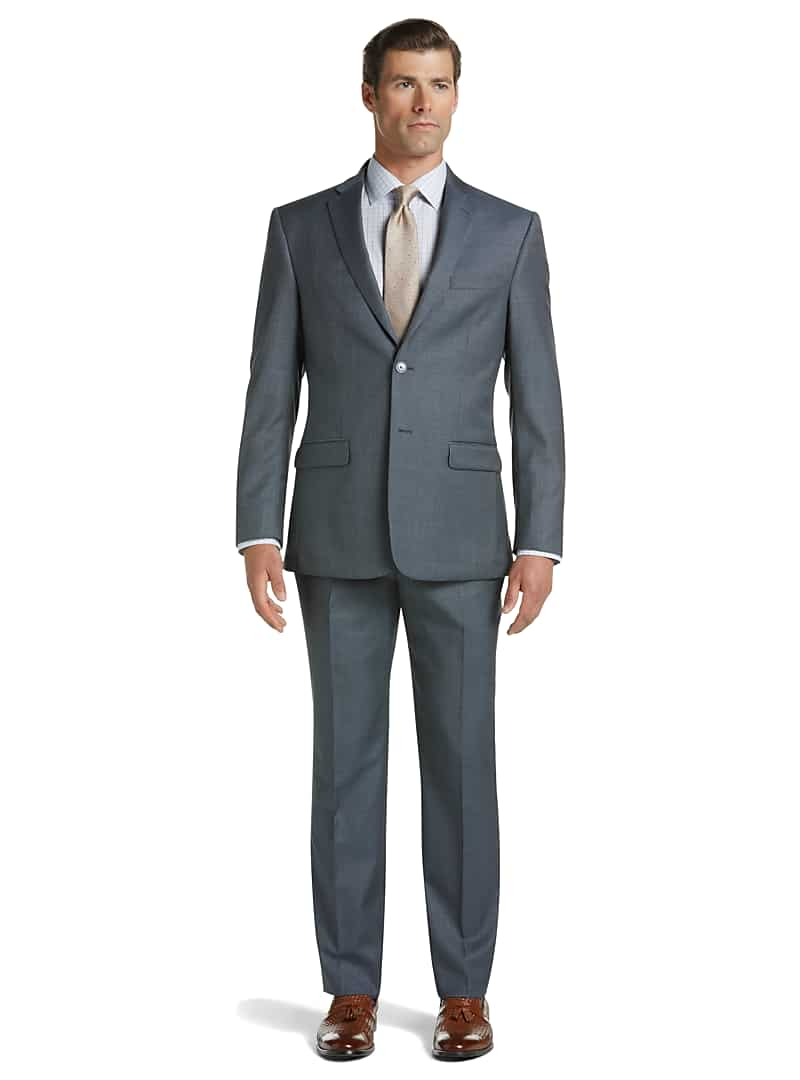Jos. A. Bank Men's Traveler Collection Slim Fit Sharkskin Suit
