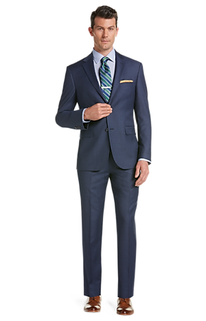 Traveler Tailored Fit Sharkskin Suit