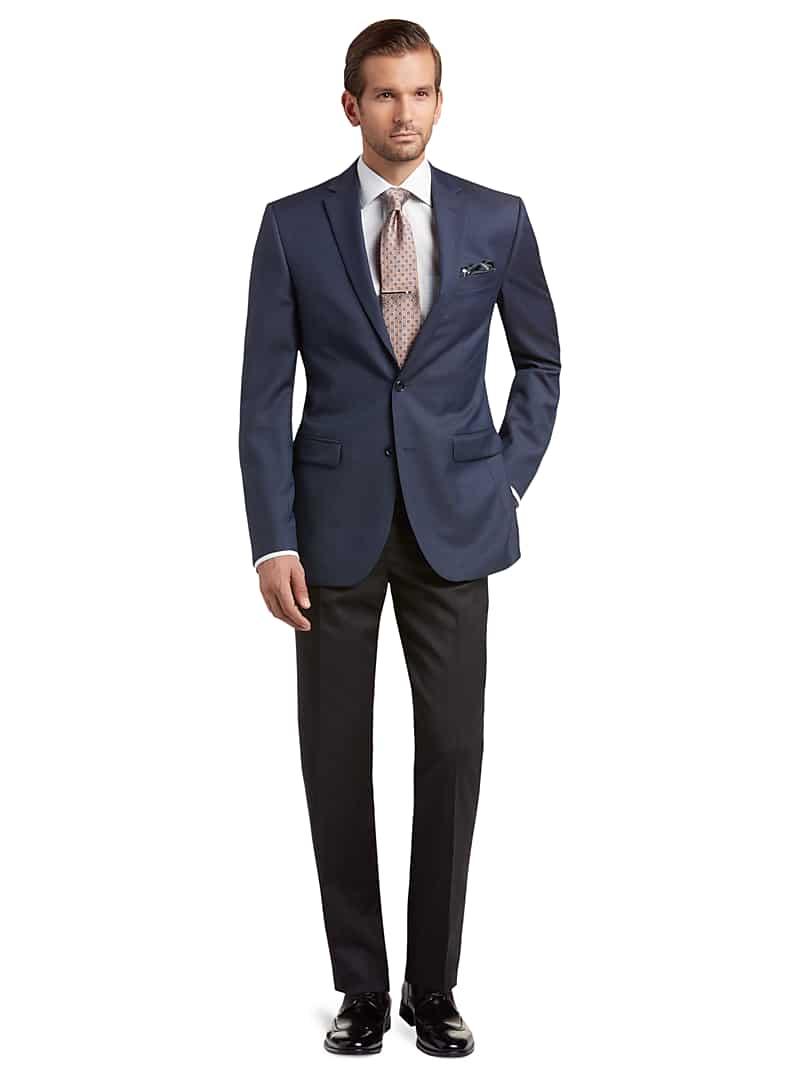 Traveler Collection Slim Fit Sharkskin Suit Separate Jacket