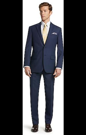 Men's Suits, Travel Tech Collection Mini Box Weave Slim Fit Suit - Jos A Bank
