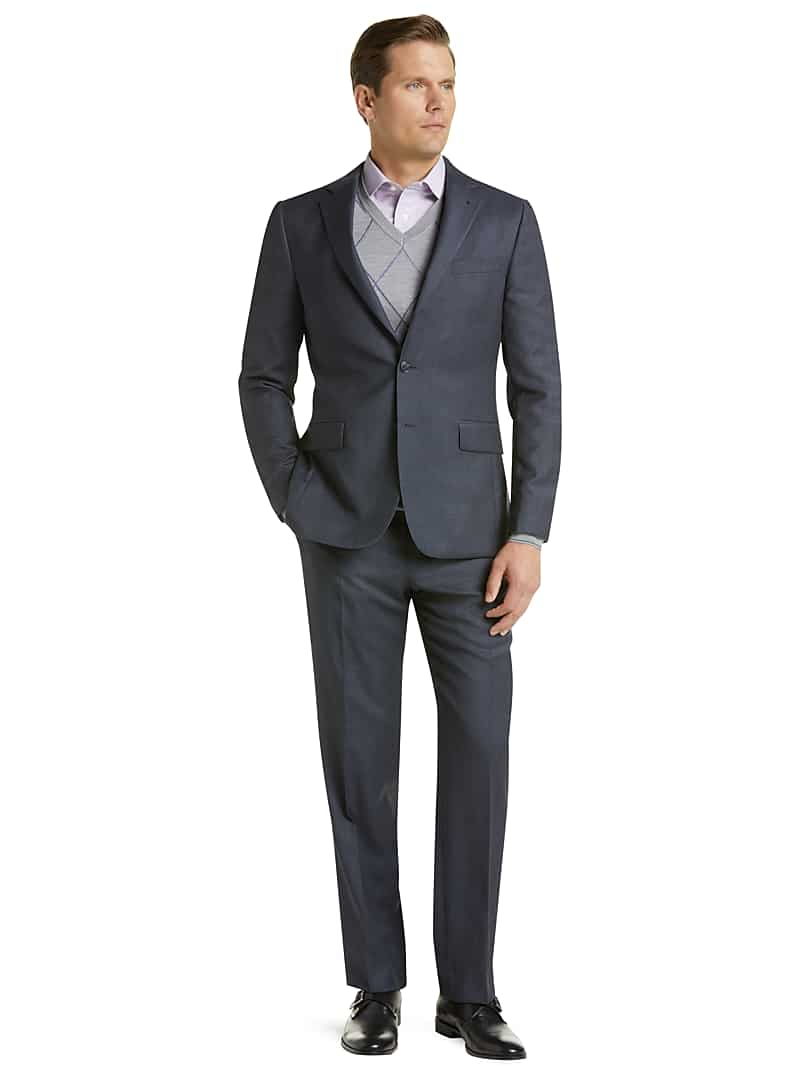 Jos. A. Bank Men's Traveler Collection Slim Fit Tic Weave Suit