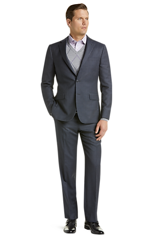 Men's Special Categories, Traveler Collection Slim Fit Tic Weave Suit CLEARANCE - Jos A Bank