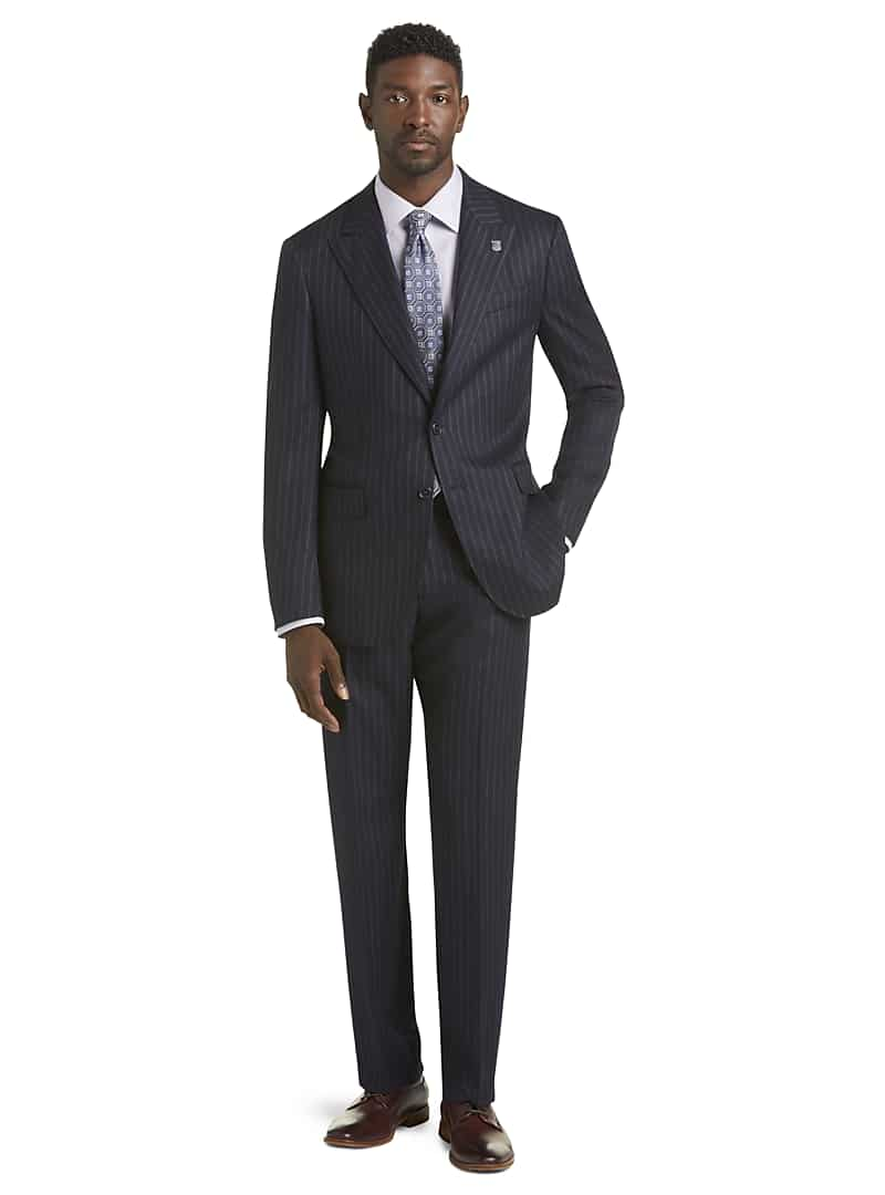 Reserve Collection Tailored Fit Pinstripe Liberty Suit