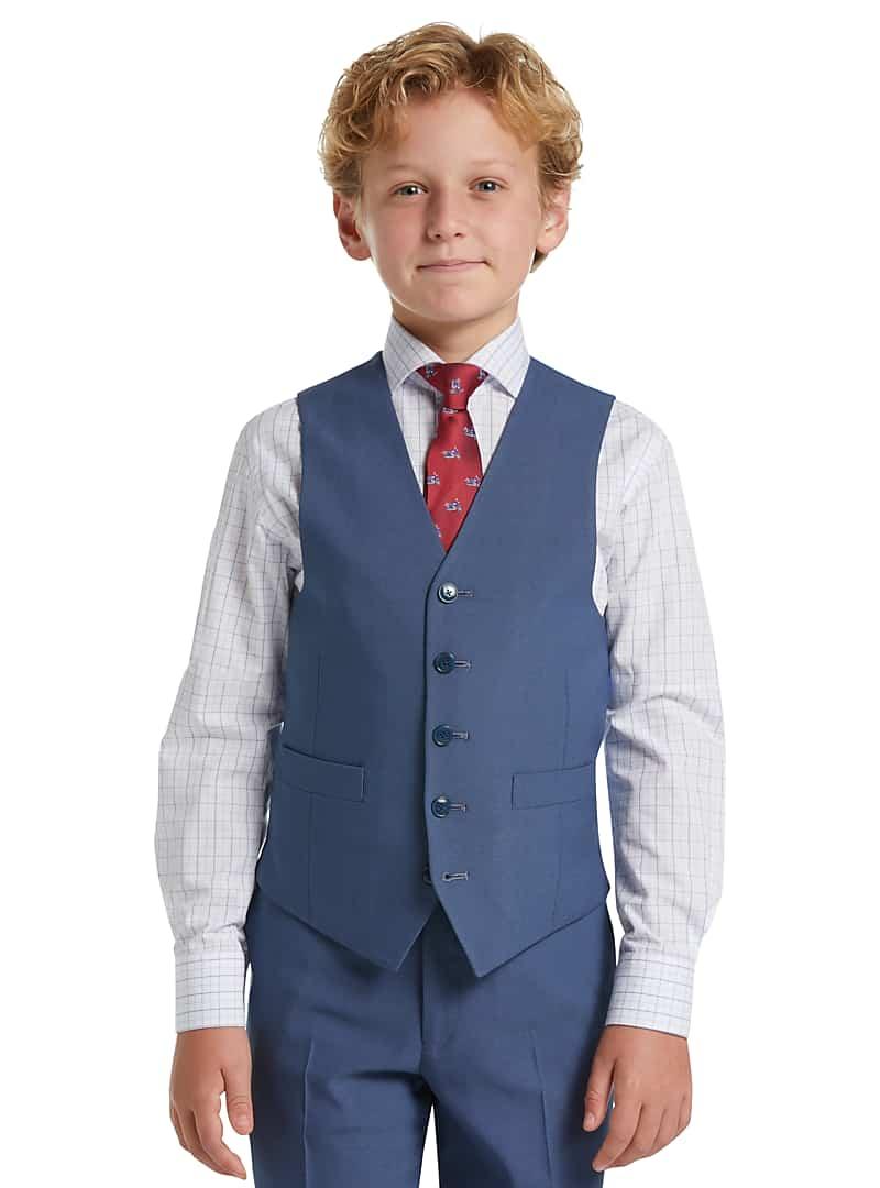 1905 Collection Boys Mini Tic Suit Separates Vest