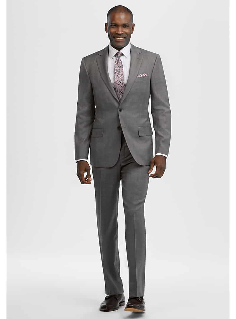 Reserve Collection Tailored Fit Glen Plaid Suit