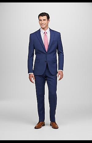 Men's Suits, 1905 Collection Slim Fit Plaid Oraganica? Suit with brrr°? comfort - Jos A Bank