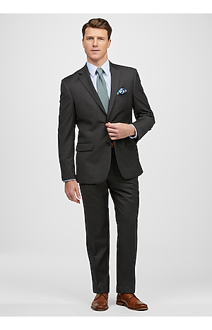 Men's Suits, Traveler Collection Tailored Fit Tic Weave Suit - Jos A Bank