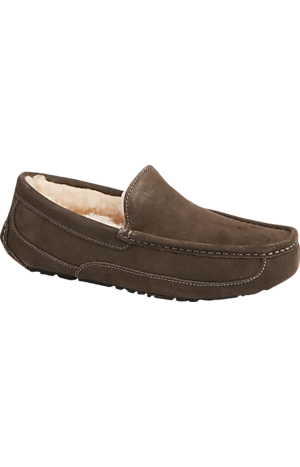 Men's Shoes, UGG Ascot Suede Slippers - Jos A Bank