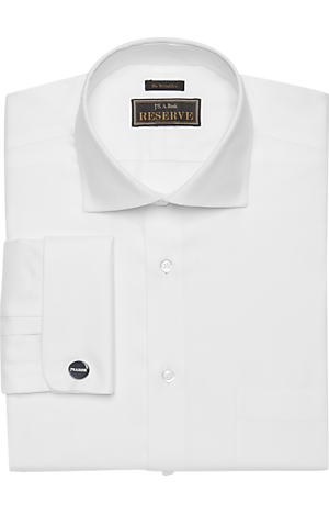 Men's Shirts, Reserve Collection Traditional Fit Spread Collar Herringbone Dress Shirt - Jos A Bank