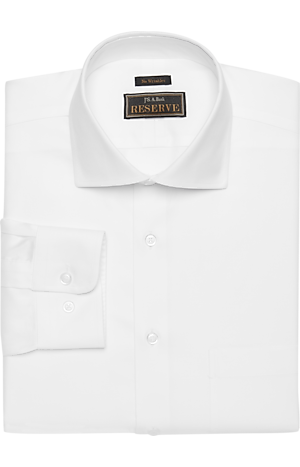 Men's FLYOUT_COLLECTION, Reserve Collection Traditional Fit Spread Collar Twill Dress Shirt - Big & Tall - Jos A Bank